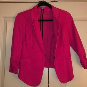 Hot pink Blazer from Charlotte Russe